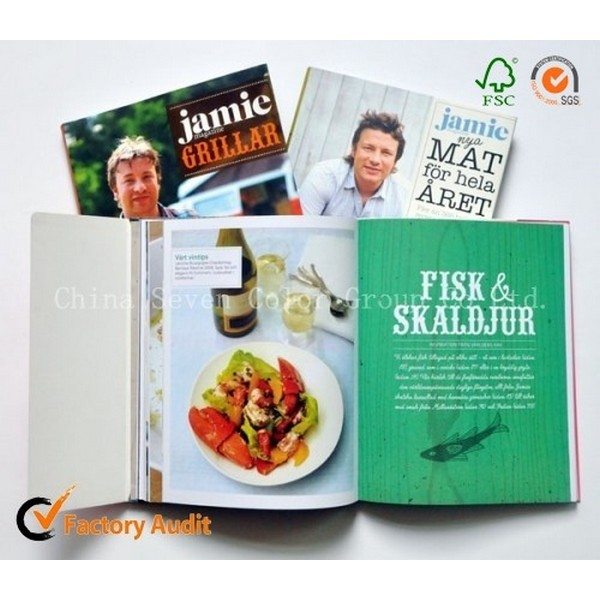 Hot Sell Softcover Cooking Book Printing