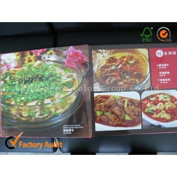 Fresh Colored Cooking Book Printing Service