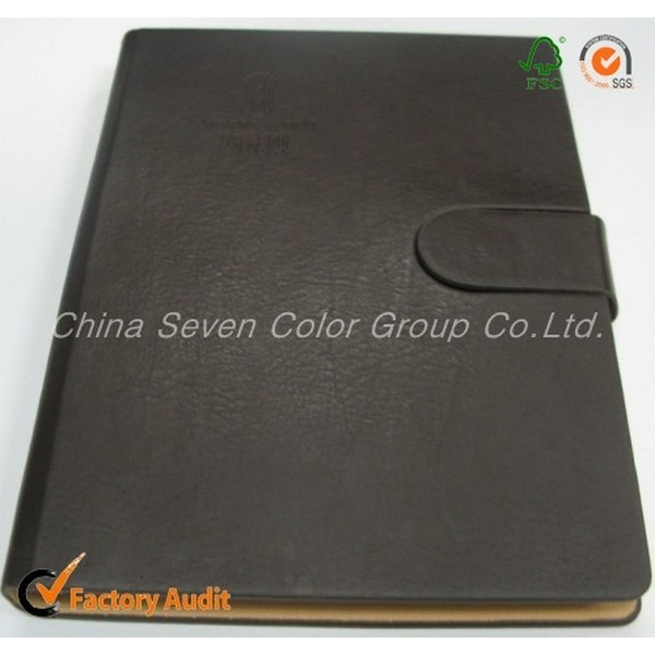 Official Upmarket Leather Hardcover Notebook