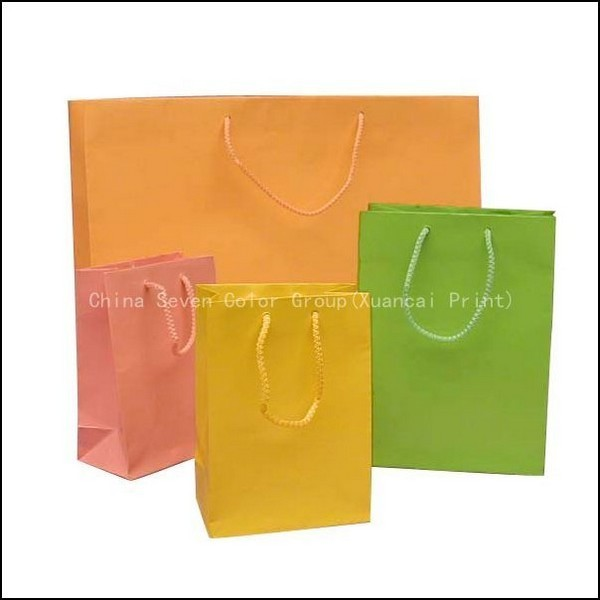 High Quality Shopping Luxury Brown Coated Paper Bag