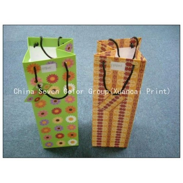 Orange Color Customized Paper Bags Wholesale
