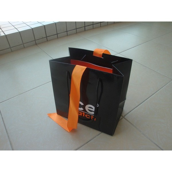 Faddish Promotional Kraft Paper Bag With Logo For Packing