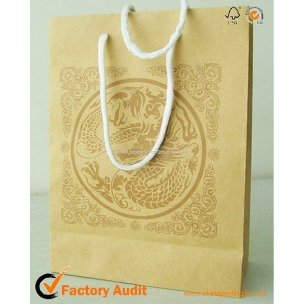 Lamination Paper Bag With Logo Hot Stamping
