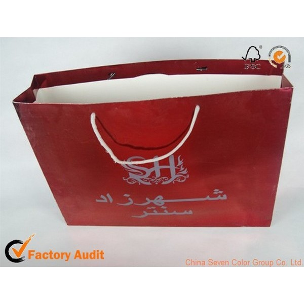 printed paper gift bag for chocolate packaging