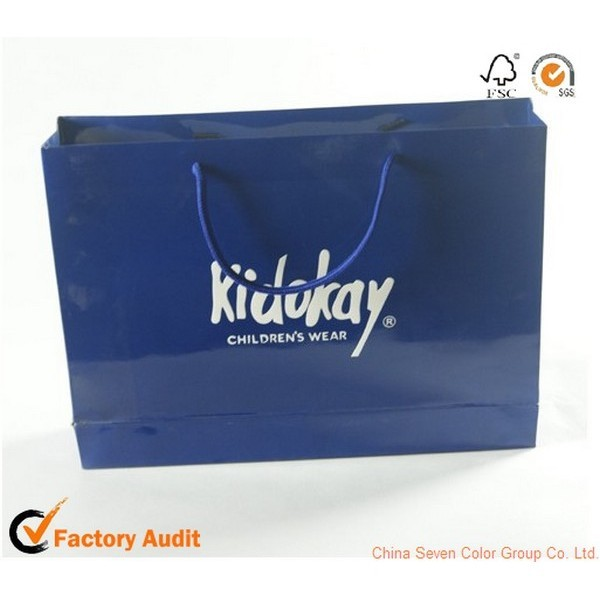 Colorful Paper Gift Bag With Ribbon Handle