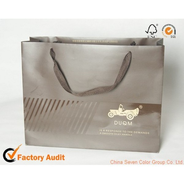 luxury paperboard gift bag