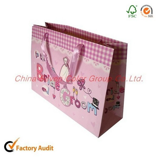 Good Quality Cartoon Festival Printed Paper Bag