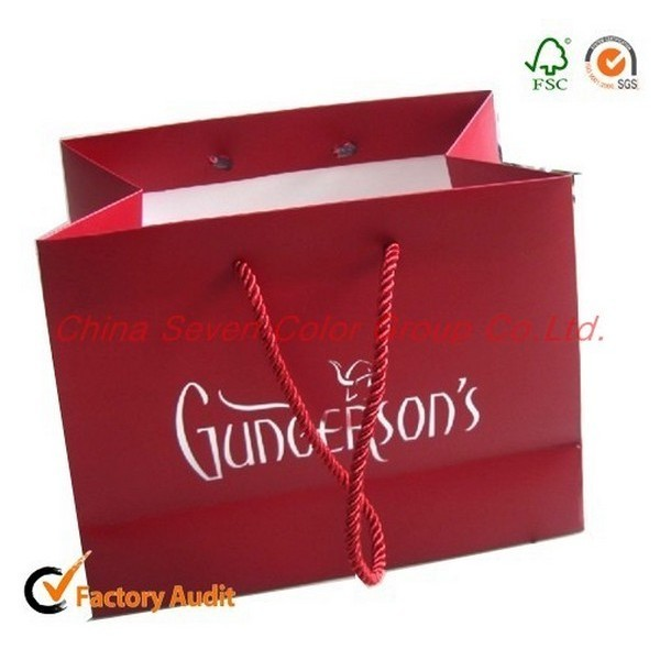Manufacture Paper Bag With Handle Shopping Bag